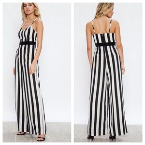 Black & White Stripes Jumpsuit